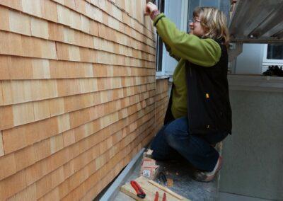 Fassadenbau Holzschindeln